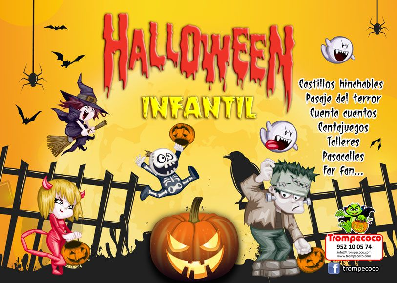 Organizamos fiestas infantiles de Halloween